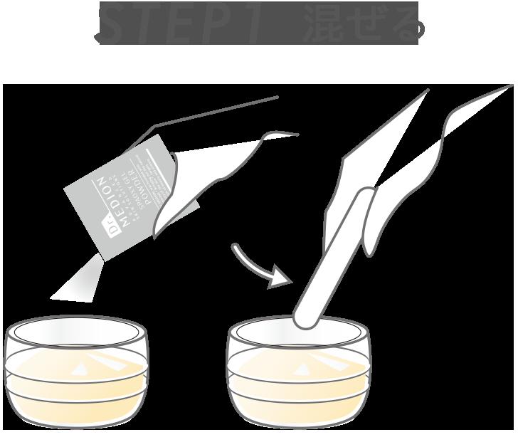 STEP1 混ぜる
